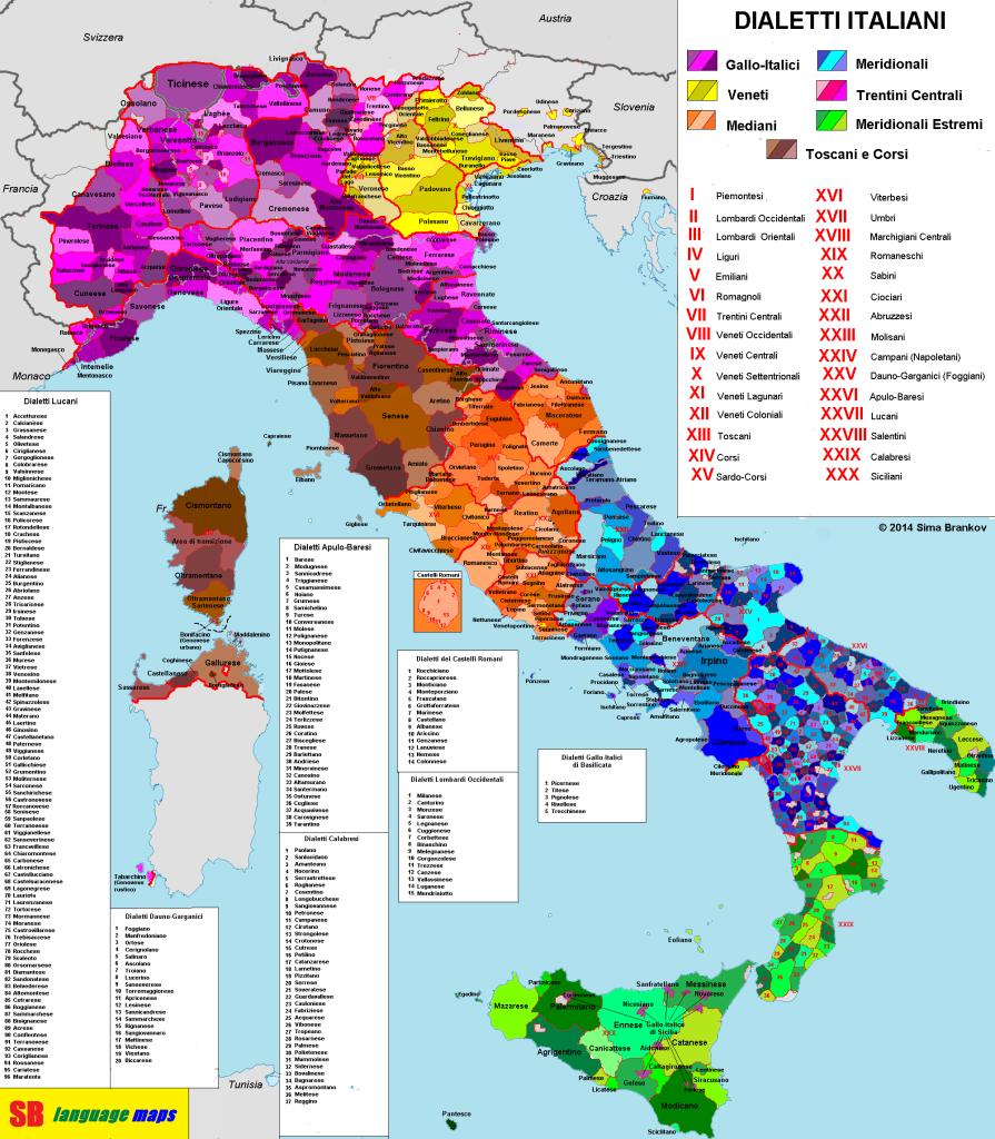 Dialetos da Itália