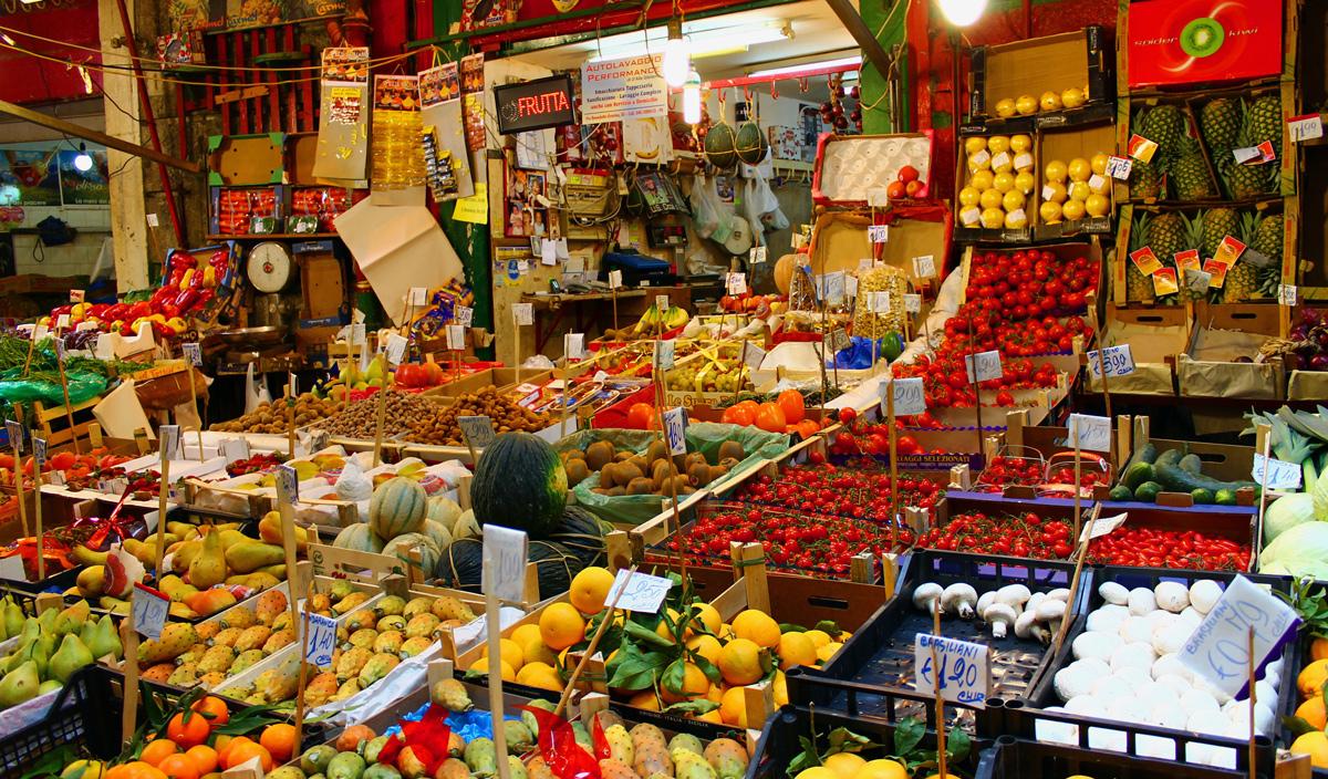 Mercado de rua em Palermo