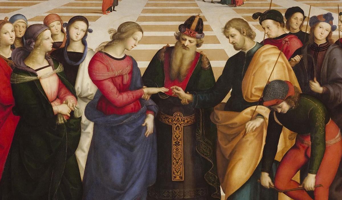 O Casamento da Virgem de Rafael Sanzio