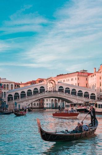 cidade de Veneza ponte do Rialto